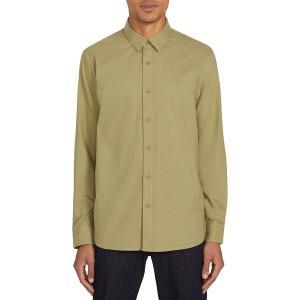 ボルコム シャツ メンズ トップス Oxford Stretch Shirt - Men's Moss Stone|astyshop