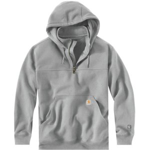 カーハート ニット、セーター メンズ アウター Rain Defender Paxton Heavyweight Hooded Mock-Zip Sweatshirt - Men's Heather Gray|astyshop