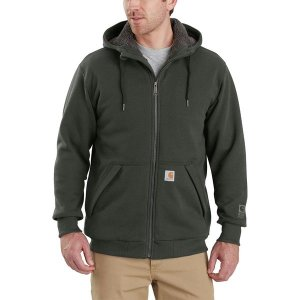 カーハート ニット、セーター メンズ アウター Rain Defender Rockland Sherpa-Lined Full-Zip Hooded Sweatshirt - Men's Peat|astyshop