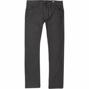 ボルコム カジュアル メンズ ボトムス Vorta 5 Pocket Slub Pant - Men's Asphalt Black|astyshop