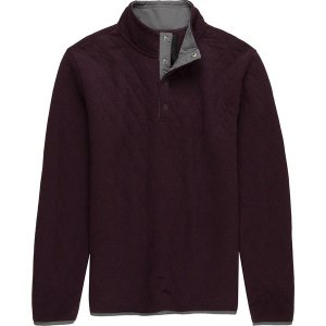 ストイック ニット、セーター メンズ アウター Quilted Snap Mockneck Pullover - Men's Burgundy|astyshop