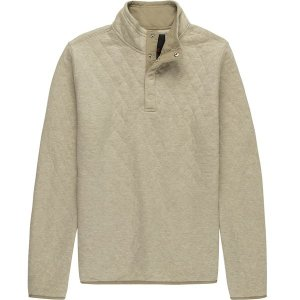 ストイック ニット、セーター メンズ アウター Quilted Snap Mockneck Pullover - Men's Oatmeal|astyshop