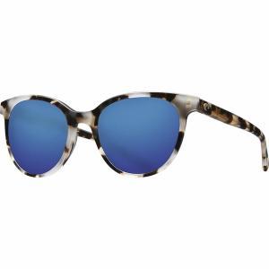 コスタ サングラス&アイウェア レディース アクセサリー Isla 580G Polarized Sunglasses - Women's Shiny Tiger Cowrie Frame/Blue Mirror 580G|astyshop