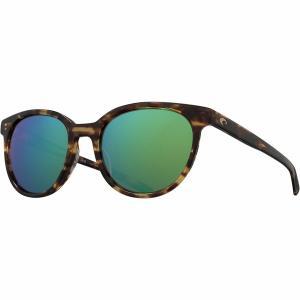 コスタ サングラス&アイウェア レディース アクセサリー Isla 580G Polarized Sunglasses - Women's Shiny Tortoise Frame/Green Mirror 580G|astyshop