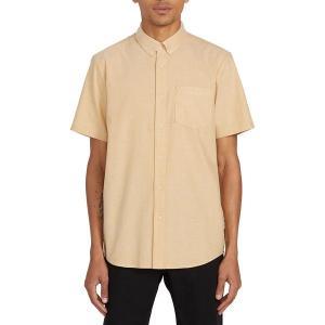 ボルコム シャツ メンズ トップス Everett Oxford Short-Sleeve Shirt - Men's Gold|astyshop