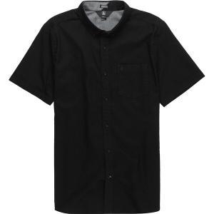 ボルコム シャツ メンズ トップス Everett Oxford Short-Sleeve Shirt New Black|astyshop
