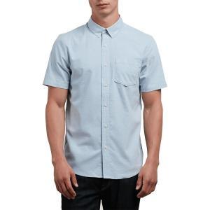 ボルコム シャツ メンズ トップス Everett Oxford Short-Sleeve Shirt - Men's Wrecked Indigo|astyshop
