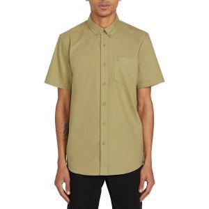 ボルコム シャツ メンズ トップス Everett Oxford Short-Sleeve Shirt - Men's Moss Stone|astyshop