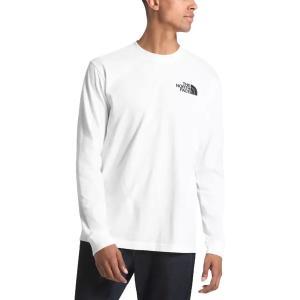 ノースフェイス シャツ メンズ トップス Red Box Long-Sleeve T-Shirt - Men's TNF White|astyshop