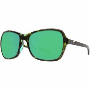 コスタ サングラス&アイウェア レディース アクセサリー Kare 580P Polarized Sunglasses - Women's Shiny Kiwi Tortoise Frame/Green Mirror 580P|astyshop