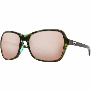 コスタ サングラス&アイウェア レディース アクセサリー Kare 580P Polarized Sunglasses - Women's Shiny Kiwi Tortoise Frame/Copper Silver Mirror 580P|astyshop