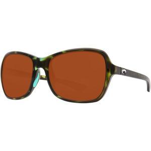 コスタ サングラス&アイウェア レディース アクセサリー Kare 580P Polarized Sunglasses - Women's Shiny Kiwi Tortoise Copper 580p|astyshop