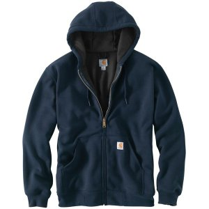 カーハート ニット、セーター メンズ アウター Rain Defender Rutland Thermal-Lined Full-Zip Hooded Sweatshirt - Men's New Navy|astyshop