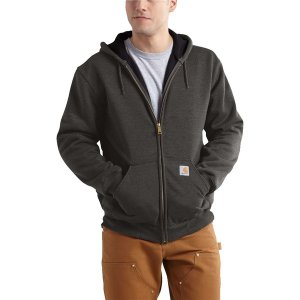 カーハート ニット、セーター メンズ アウター Rain Defender Rutland Thermal-Lined Full-Zip Hooded Sweatshirt - Men's Peat|astyshop