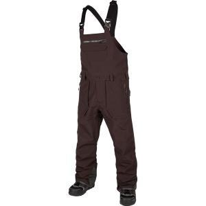 ボルコム カジュアル メンズ ボトムス Rain Gore-Tex Bib Overall Pant - Men's Black/Red|astyshop
