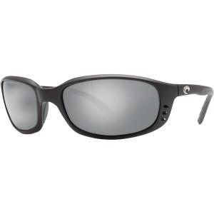 コスタ サングラス&アイウェア レディース アクセサリー Brine 580G Polarized Sunglasses Matte Black Frame/Gray Silver Mirror|astyshop
