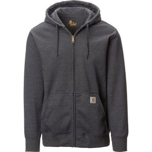 カーハート ニット、セーター メンズ アウター Rain Defender Paxton Heavyweight Full-Zip Hooded Sweatshirt - Men's Carbon Heather|astyshop