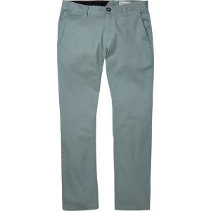 ボルコム カジュアル メンズ ボトムス Frickin Modern Stretch Chino Pant - Men's Cool Blue|astyshop