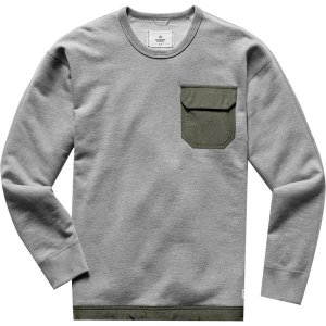レイニングチャンプ ニット、セーター メンズ アウター Midweight Terry Relaxed Crewneck Sweatshirt - Men's Heather Grey/Sage|astyshop