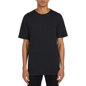 ボルコム シャツ メンズ トップス Solid Pocket T-Shirt - Men's Black|astyshop