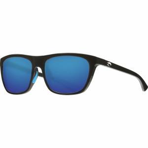 コスタ サングラス&アイウェア レディース アクセサリー Cheeca 580G Polarized Sunglasses - Women's Shiny Black Frame/Blue Mirror 580G|astyshop