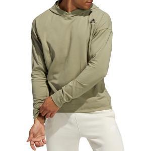 アディダス パーカー・スウェットシャツ アウター メンズ adidas Men's Yoga Coverup Hoodie Orbit Green astyshop