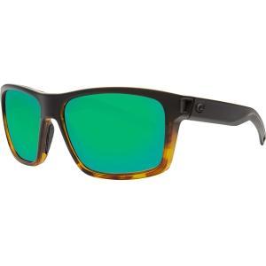 コスタデルマール サングラス・アイウェア アクセサリー メンズ Costa Del Mar Slack Tide 580P Polarized Sunglasses Black/Shiny Tortoise/Green Mirror astyshop