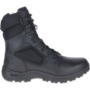 ベイツ ブーツ&レインブーツ シューズ メンズ Bates Men's Maneuver Waterproof Side Zip Work Boots Black|astyshop