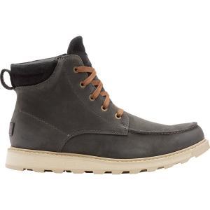 ソレル スニーカー シューズ メンズ SOREL Men's Madson II Moc Toe Waterproof Boots Coal|astyshop