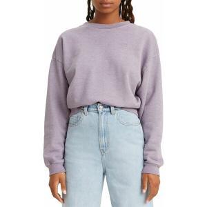 リーバイス パーカー・スウェットシャツ アウター レディース Levi's Women's Graphic Diana Crew Sweatshirt Lavender|astyshop