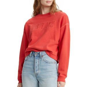 リーバイス パーカー・スウェットシャツ アウター レディース Levi's Women's Premium Graphic Diana Crew Sweatshirt Poppy Red|astyshop