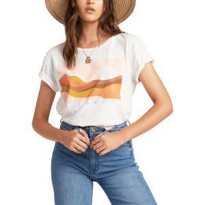 ビラボン シャツ トップス レディース Billabong Women's Endless Horizon T-Shirt Salt Crystal|astyshop
