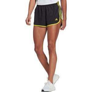 アディダス カジュアルパンツ ボトムス レディース adidas Women's Marathon 20 Shorts Black/Acid Yellow astyshop