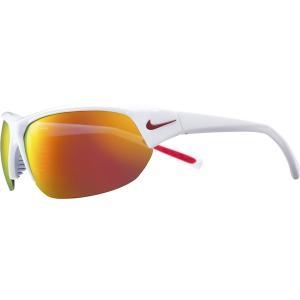 ナイキ サングラス・アイウェア アクセサリー メンズ Nike Skylon Ace Sunglasses Shiny Wht/Grey/Red Mirror astyshop