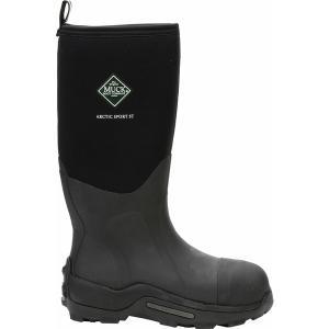ムックブーツ ブーツ&レインブーツ シューズ メンズ Muck Boots Men's Arctic Sport Steel Toe Waterproof Work Boots Black|astyshop