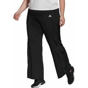 アディダス カジュアルパンツ ボトムス レディース adidas Women's Designed To Move Bootcut Pants Black/White astyshop