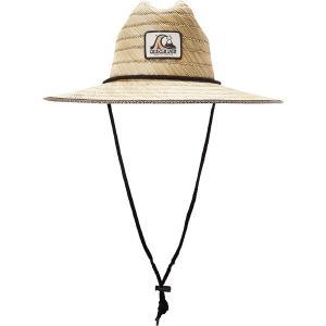 クイックシルバー 帽子 アクセサリー メンズ Quiksilver Men's Dredged Straw Lifeguard Hat Oxblood Red astyshop