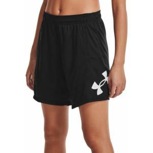 アンダーアーマー カジュアルパンツ ボトムス レディース Under Armour Women's Colorblock 6'' Basketball Shorts Black/White astyshop