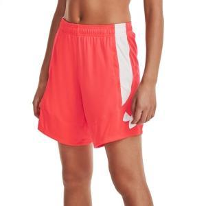 アンダーアーマー カジュアルパンツ ボトムス レディース Under Armour Women's Colorblock 6'' Basketball Shorts Beta/White astyshop