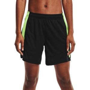 アンダーアーマー カジュアルパンツ ボトムス レディース Under Armour Women's Colorblock 6'' Basketball Shorts Black/Summer Lime astyshop