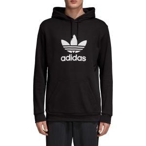 アディダス パーカー・スウェットシャツ アウター メンズ adidas Originals Men's Trefoil Hoodie Black astyshop
