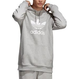 アディダス パーカー・スウェットシャツ アウター メンズ adidas Originals Men's Trefoil Hoodie Grey astyshop
