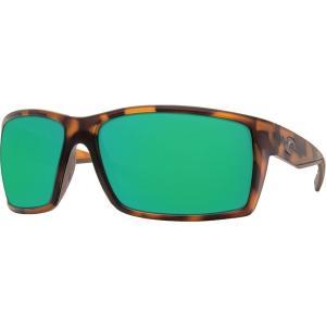 コスタデルマール サングラス・アイウェア アクセサリー メンズ Costa Del Mar Reefton 580P Polarized Sunglasses Tortoise/Green Mirror astyshop