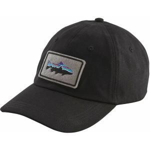 パタゴニア 帽子 アクセサリー メンズ Patagonia Men's Fitz Roy Trout Patch Trad Cap Black astyshop