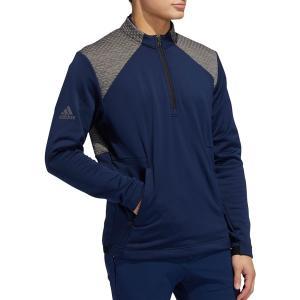 アディダス ジャケット&ブルゾン アウター メンズ adidas Men's Cold.RDY -Zip Golf Pullover College Navy astyshop