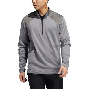 アディダス ジャケット&ブルゾン アウター メンズ adidas Men's Cold.RDY -Zip Golf Pullover Grey Three astyshop