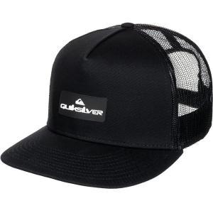 クイックシルバー 帽子 アクセサリー メンズ Quiksilver Men's Lockerbees Trucker Hat Black astyshop