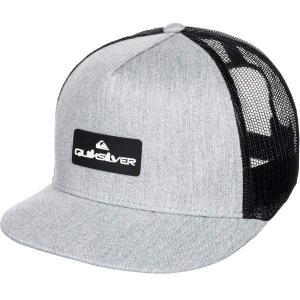 クイックシルバー 帽子 アクセサリー メンズ Quiksilver Men's Lockerbees Trucker Hat Medium Grey Heather astyshop