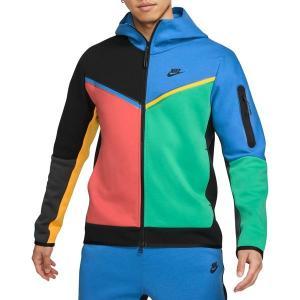 ナイキ パーカー・スウェットシャツ アウター メンズ Nike Men's Sportswear Tech Fleece Full Zip Hoodie Black/Signal Blue astyshop