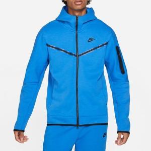 ナイキ パーカー・スウェットシャツ アウター メンズ Nike Men's Sportswear Tech Fleece Full Zip Hoodie Signal Blue/black astyshop
